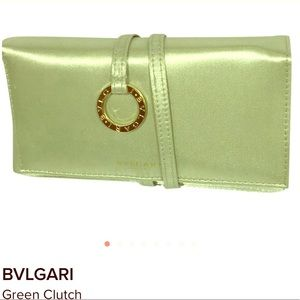 BVULGARI satin wrap clutch